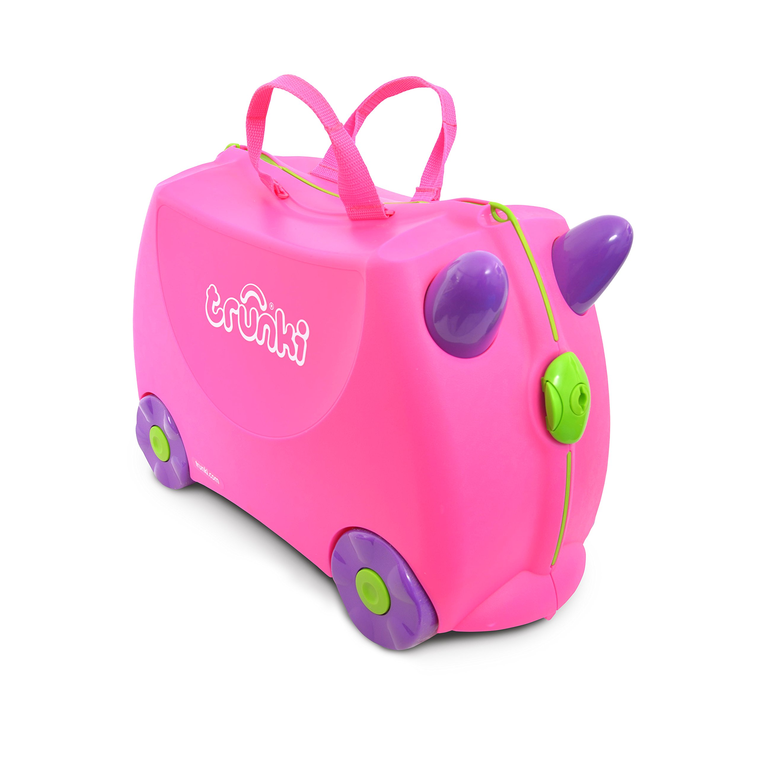 Trunki Original Kids Ride-On Suitcase and Carry-On Luggage - Trixie (Pink