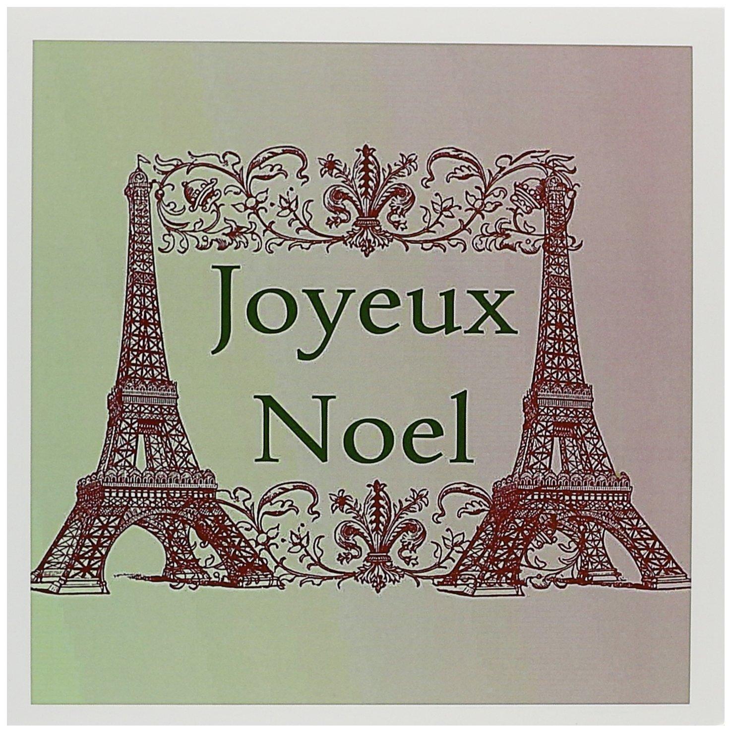 Amazon Com Joyeux Noel Eiffel Towers French Merry Christmas