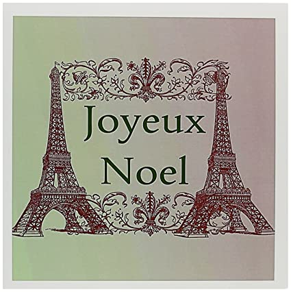 Amazon joyeux noel eiffel towers french merry christmas joyeux noel eiffel towers french merry christmas greeting cards 6 x 6 inches m4hsunfo