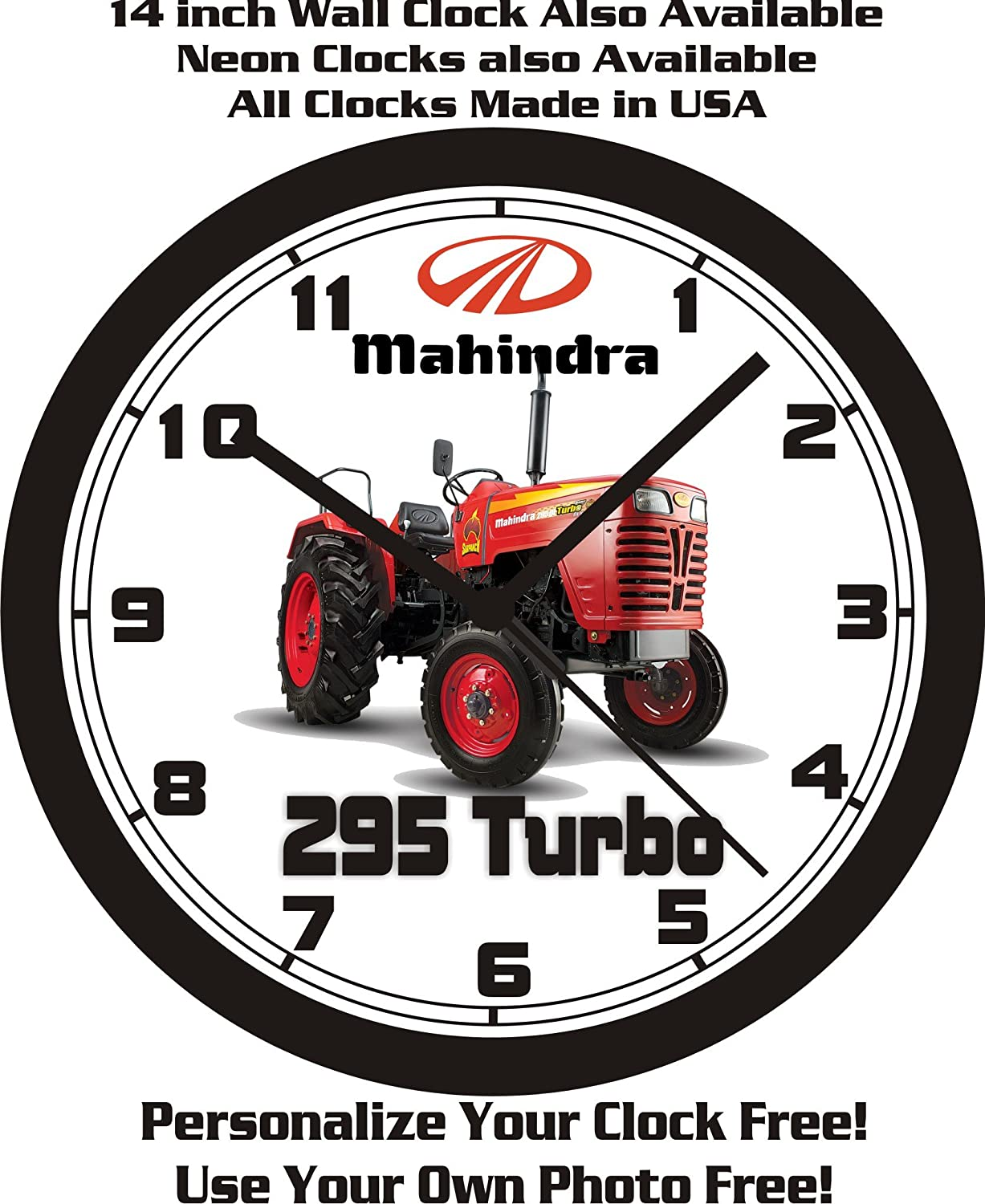Mahindra 295 Turbo Tractor pared clock-free EE. UU. Barco.: Amazon.es: Hogar