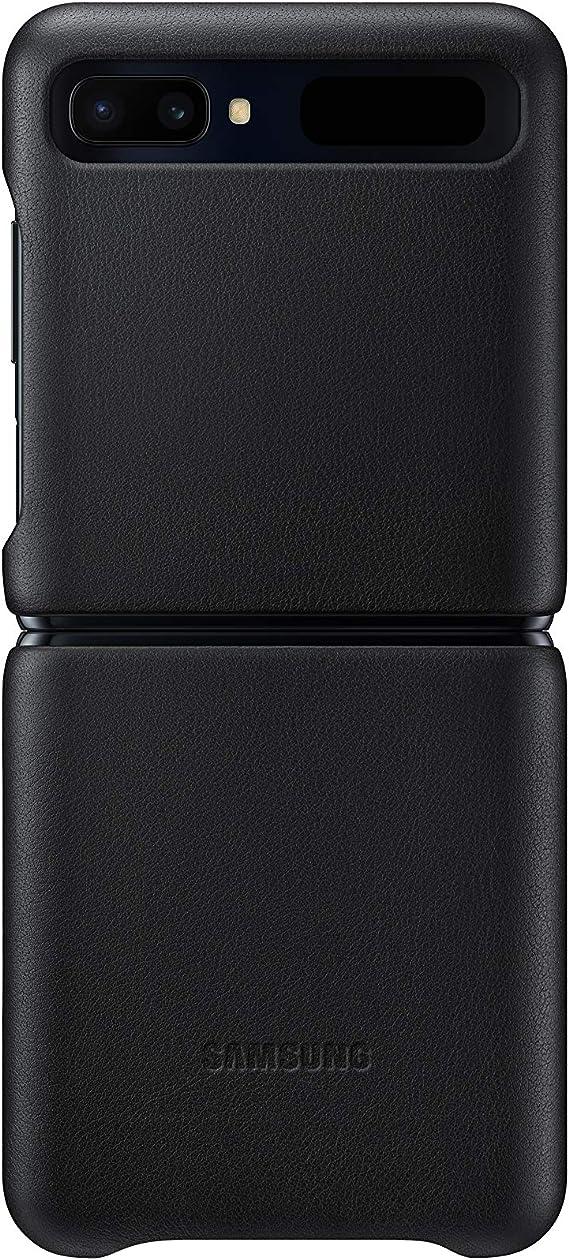 Samsung Leather Cover Ef Vf700 Für Galaxy Z Flip Black Elektronik
