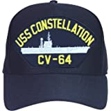 SignMission Served On USS CONSTELLATION CV 64 Plastic License Plate Frame