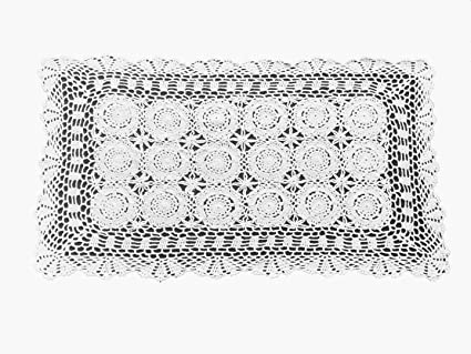 Amazon Laivigo Handmade Crochet Lace Rectangle Lucky Flower
