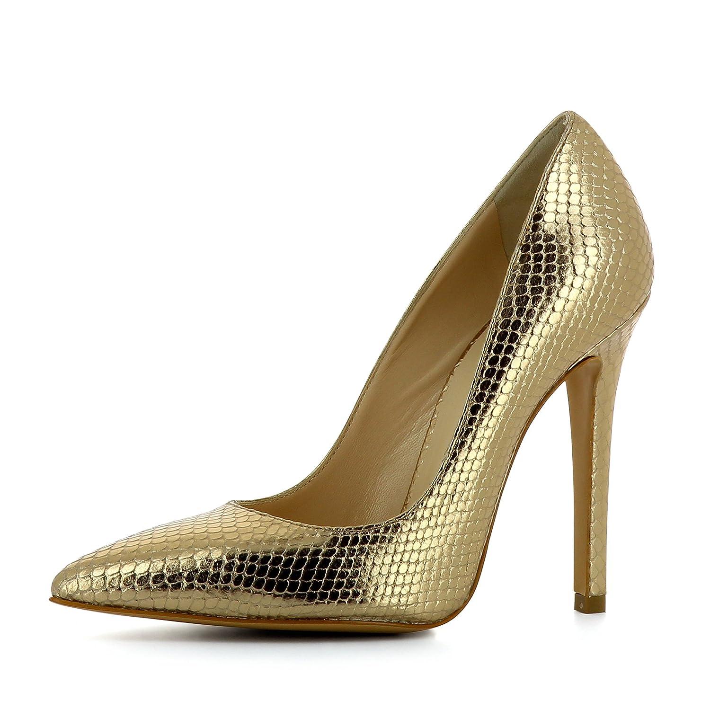 Evita Shoes Lisa - Zapatos de vestir de Piel para mujer 34 dorado