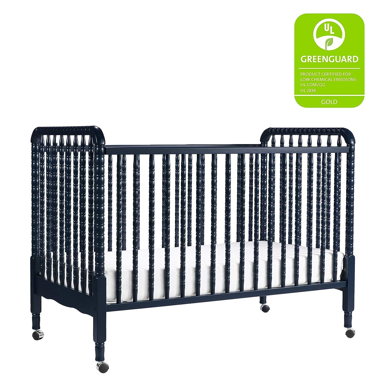 DaVinci Jenny Lind 3-in-1 Convertible Portable Crib in Navy