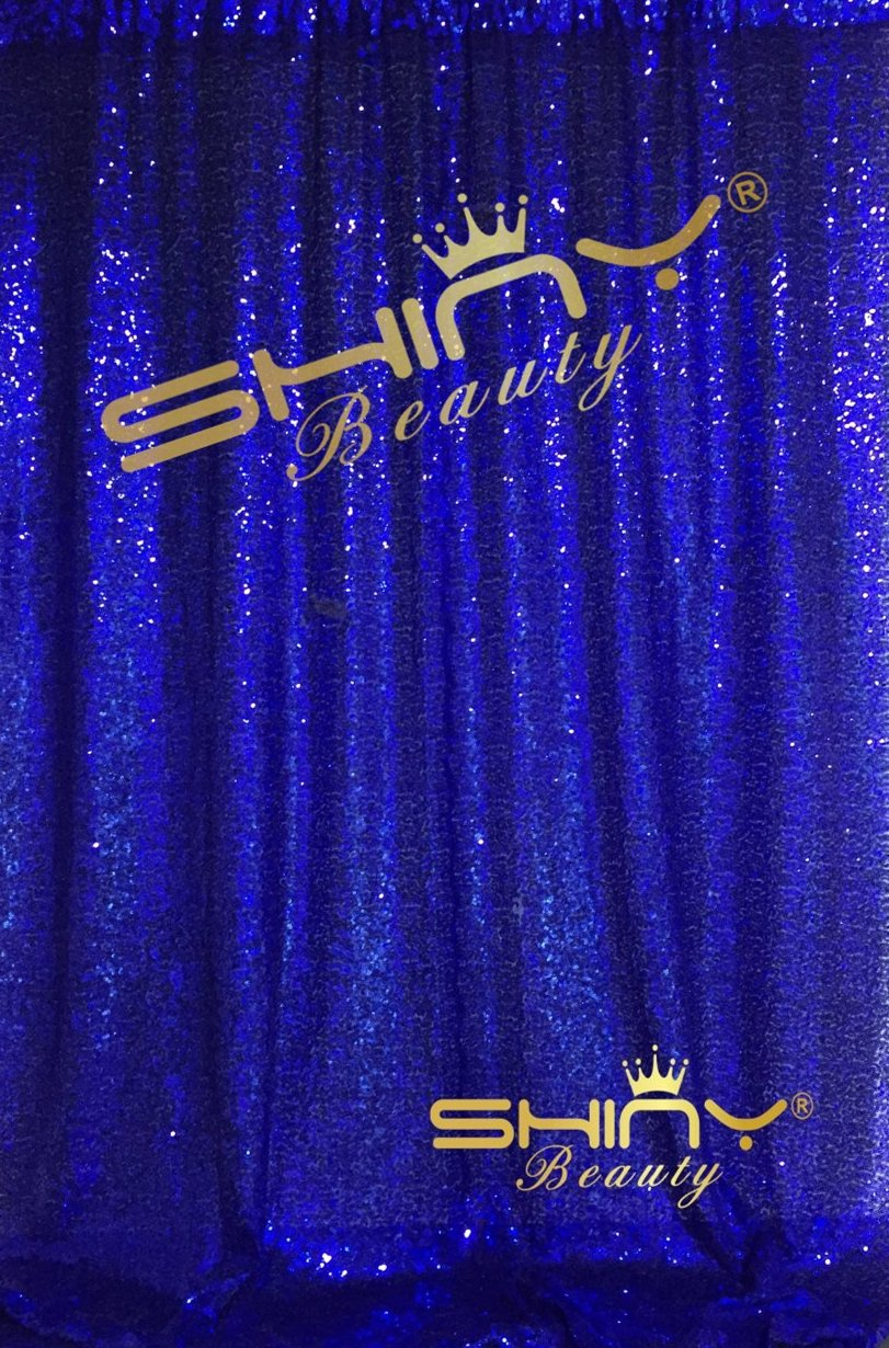 Royal bluee 6FTx8FT ShinyBeauty 8FTX8FT Red Sparkly Black Party Photo Booth Backdrop Wedding Sequin Backdrop Fabric