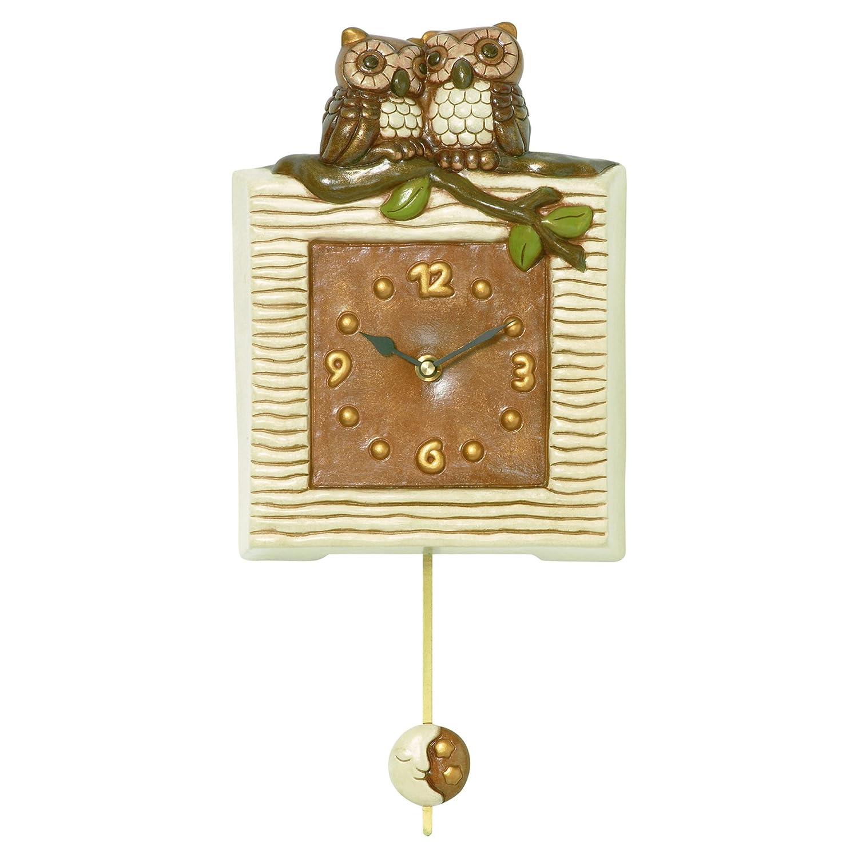 Conosciuto THUN Orologi Pendola con Gufi, Ceramica, Variopinto: Amazon.it  HD16
