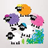 """3/"""" Sheep Single Color Creative Cut-Outs Spring Religious Projects 31 Cut-Outs in a Pack for Kids/' Craft School Craft Projects Farm Decorations"""
