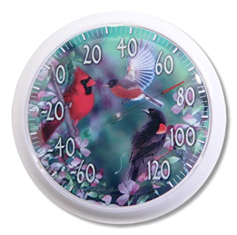 Springfield Spring Birds Low Profile Patio Thermometer (13.25 Inch)