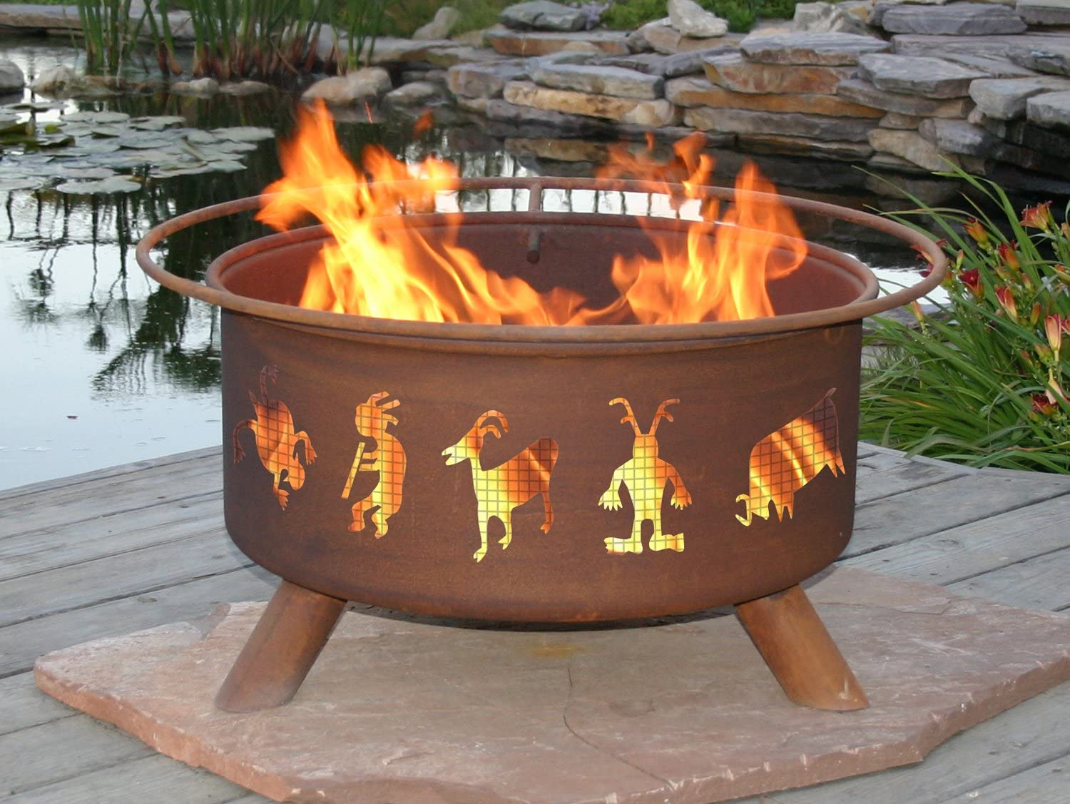 Amazon Com Patina Products F112 30 Inch Kokopelli Fire Pit Garden Outdoor