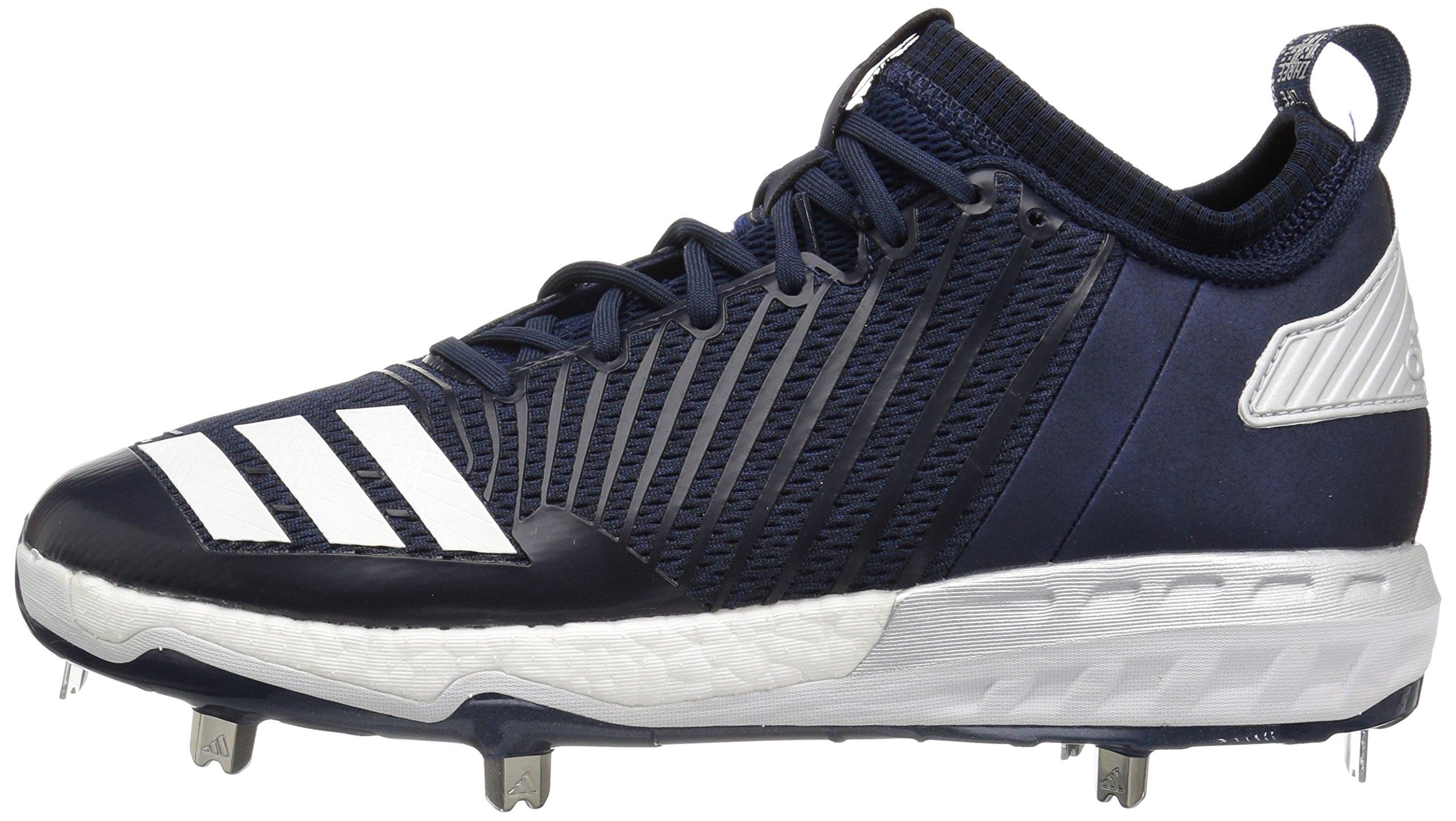 adidas Men's Freak X Carbon Mid Baseball Shoe, Collegiate Navy/White/Metallic Silver, 8 Medium US by adidas (Image #5)