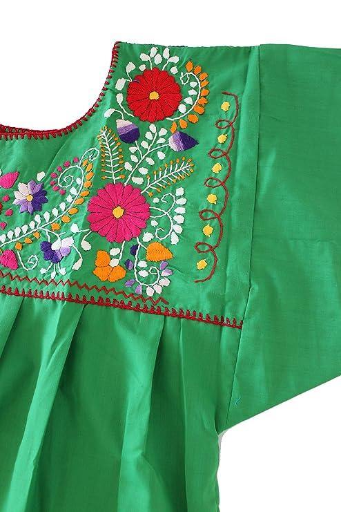 Amazon.com: Blusa de campesino mexicano bordada a mano de ...