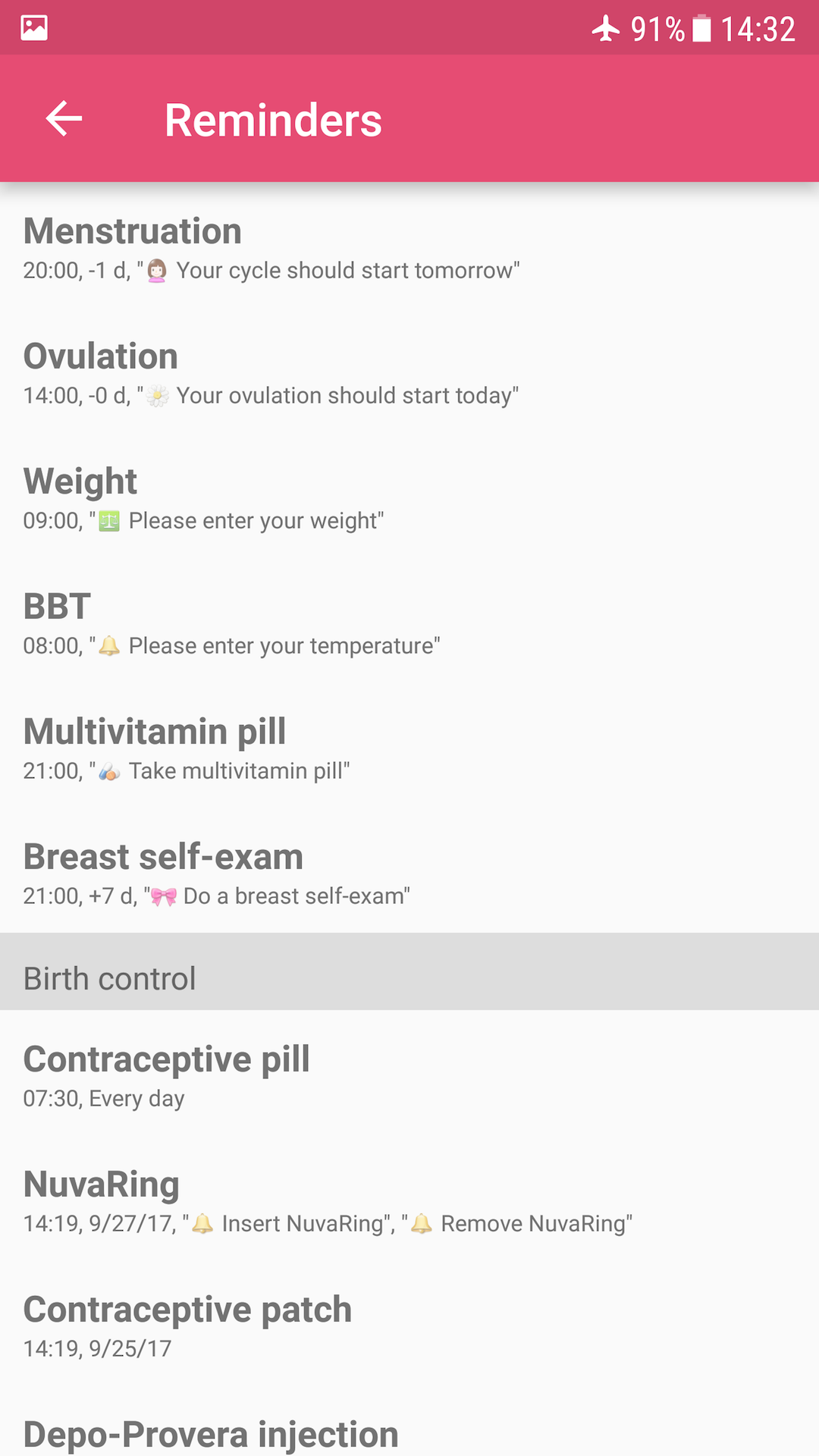 Amazon com: WomanLog Pro Calendar: Appstore for Android