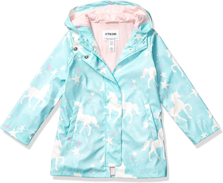 Amazon Brand - Spotted Zebra Girls Rain Coat Jacket