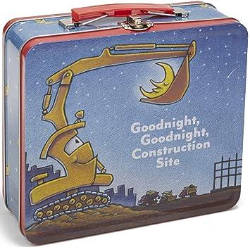 098c3396e215 Goodnight, Goodnight, Construction Site Tin Lunch Box, 7.75