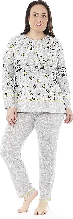 Mabel Intima Pijama Talla Grande Mujer Pijama Manga Larga Mujer Varias Tallas Estampados Y Colores Tallas Grandes Tallas 50 70 Amazon Es Ropa Y Accesorios