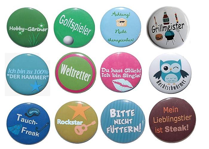 Button Set groß 50mm Auswahl ab 5 Stück aus 72 Motiven wählbar
