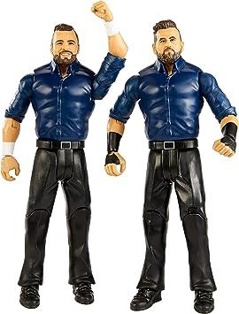 Mattel WWE-Pack de 2 Figuras de acción Luchadores Sunil Singh & Samir Singh, Multicolor GBN57: Amazon.es: Juguetes y juegos