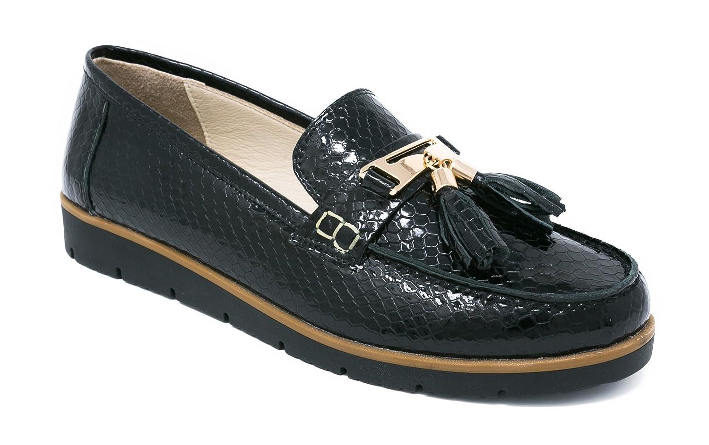 4b6f695b69911 BOBERCK Coleccion Thea Zapato de Piso Bajo Estilo Nautico de Cuero Para  Mujer (9 US