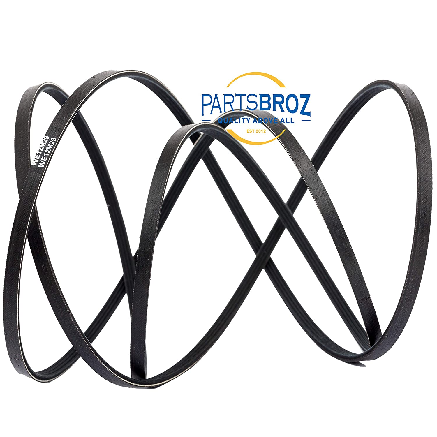 559C197P001 1381519 Replaces Part Numbers AP4324040 PS1766009 WE12M29 Dryer Drum Drive Belt Replacement for GE 559C197P003 WE120122 WE12X21574 Frigidaire /& Electrolux dryers by PartsBroz