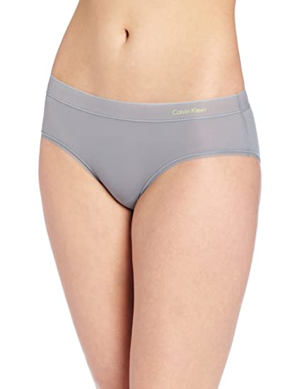 b460a6f2e2bb Calvin Klein Women's Second Skin Hipster Panty, Light Pewter, Small
