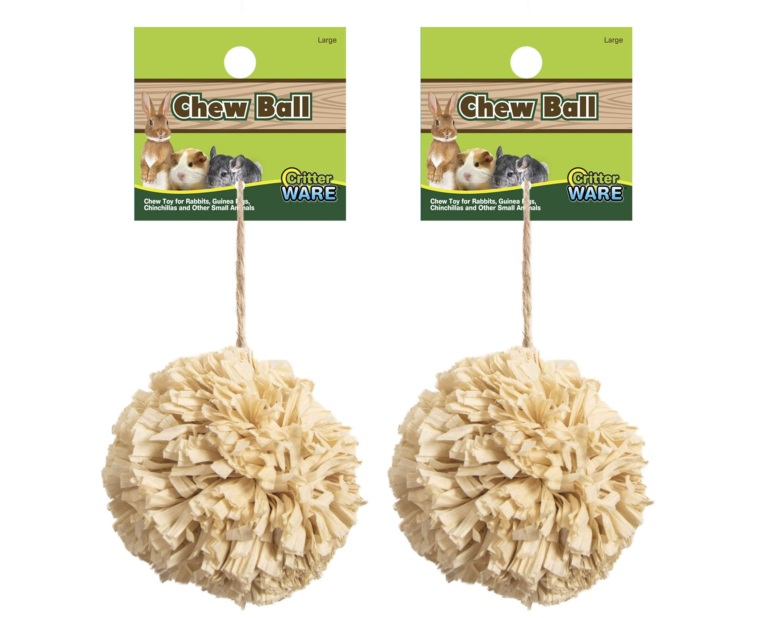 (2 Pack) Ware Natural Corn Leaf Small Pet Corn Ball Toys, Large by Ware Manufacturing