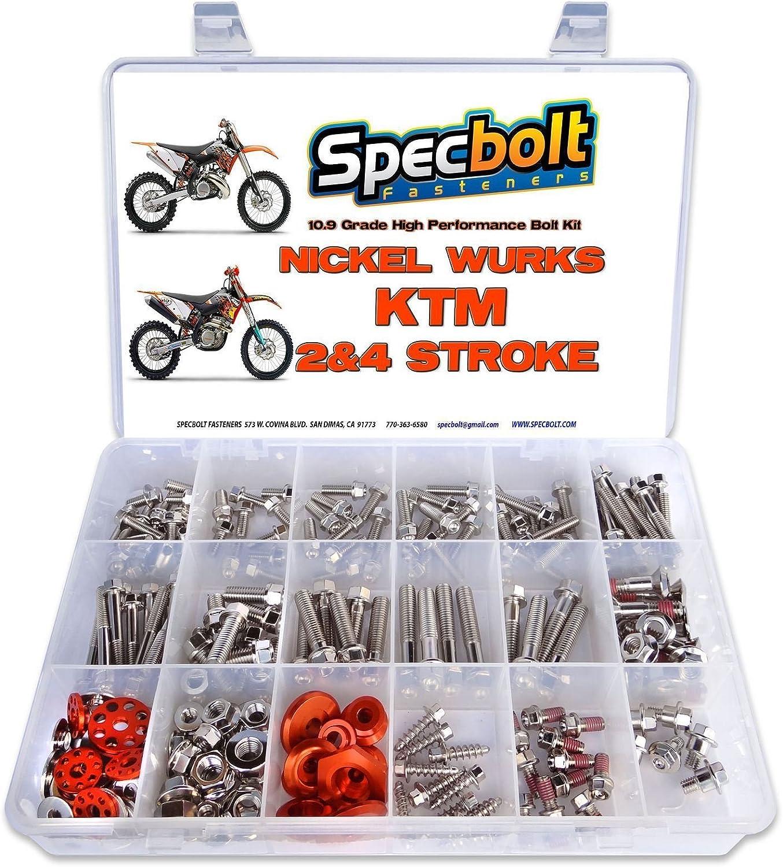 SPECBOLT HUSQVARNA BOLT KIT 2 AND 4 STROKE BODYWORK MOTOR FENDERS SHROUDS WHEELS
