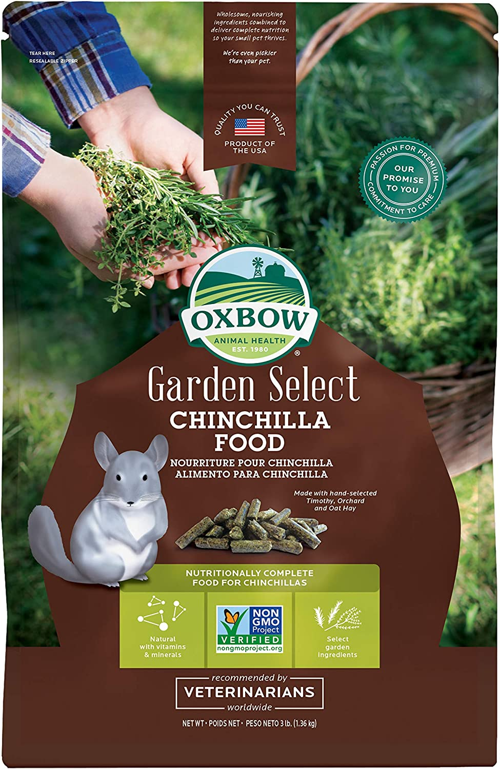 Oxbow Garden Select Fortified Food for Chinchillas