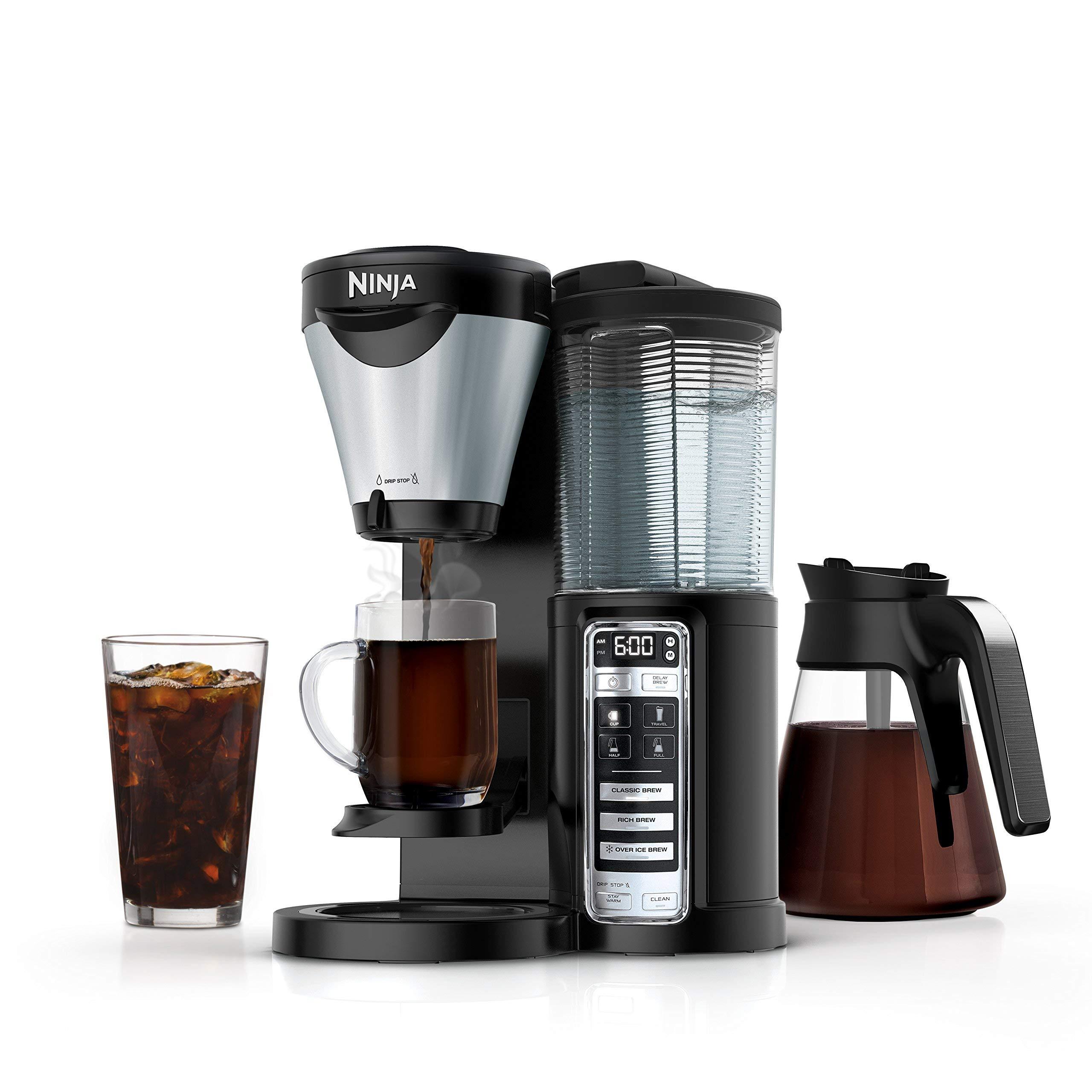 Ninja CF021 Coffee Maker Auto-iQ 1-Touch Intelligence (Renewed) by Ninja