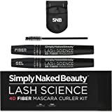 4D Fiber Mascara Curler Kit by Simply Naked Beauty. For 10X the volume and length to natural eyelashes. Highest quality…