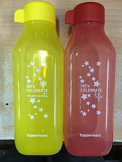 Tupperware Eco 500/ ml Square Water Bottle Set of 4