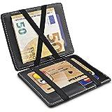 TRAVANDO ® Cartera Mágica con Compartimento para Monedas Vegas, Magic Wallet con Bloqueo RFID, Protege Tarjetas de…
