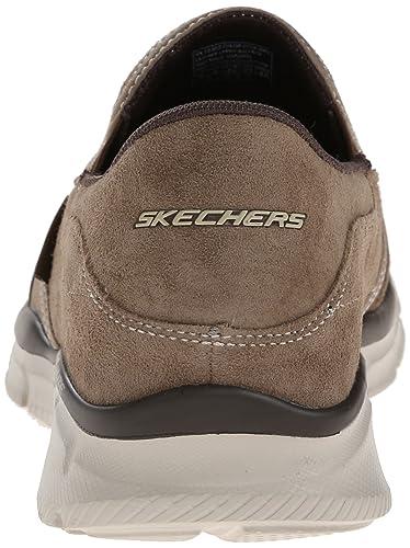 6864527d Skechers Men's Equalizer - Mind Game Brown Leather Nordic Walking Shoes