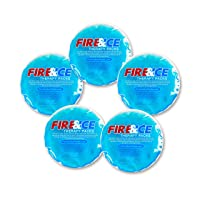 Fire & Ice Hot Cold Gel Packs—5 Reusable Therapy Pads-Use Microwave Hot or Freezer...