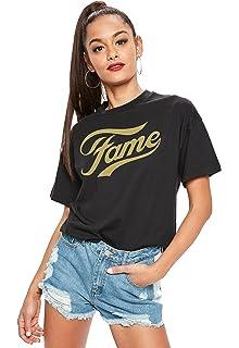 Womens 1980s Neon Green Top Fame 80s T-shirt
