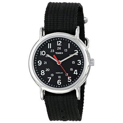 Timex Weekender Analog Black Canvas Strap Watch