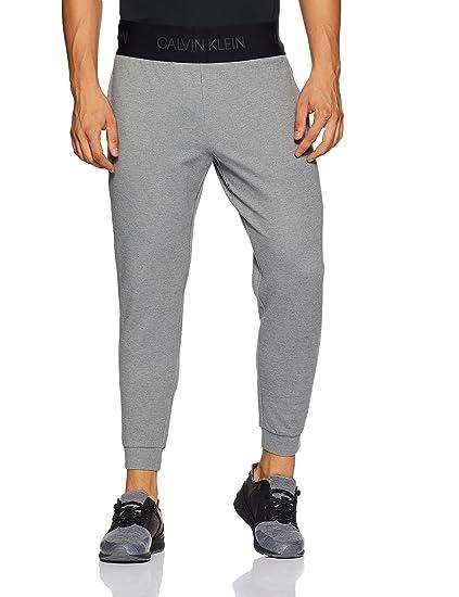 897e6318dee0 Calvin Klein Performance Logo Waistband Regular Fit Jogger  (4MF8P620077 Medium Grey Heather Large)
