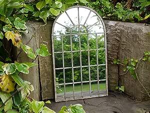 Espejo grande de pared con forma de puerta arqueada gótica, enmarcado de madera para jardín, 60 cm: Amazon.es: Jardín