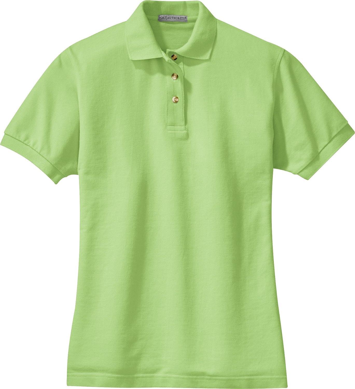 Pistachio Medium Ladies Pique Knit Polo Shirt Port Authority L420