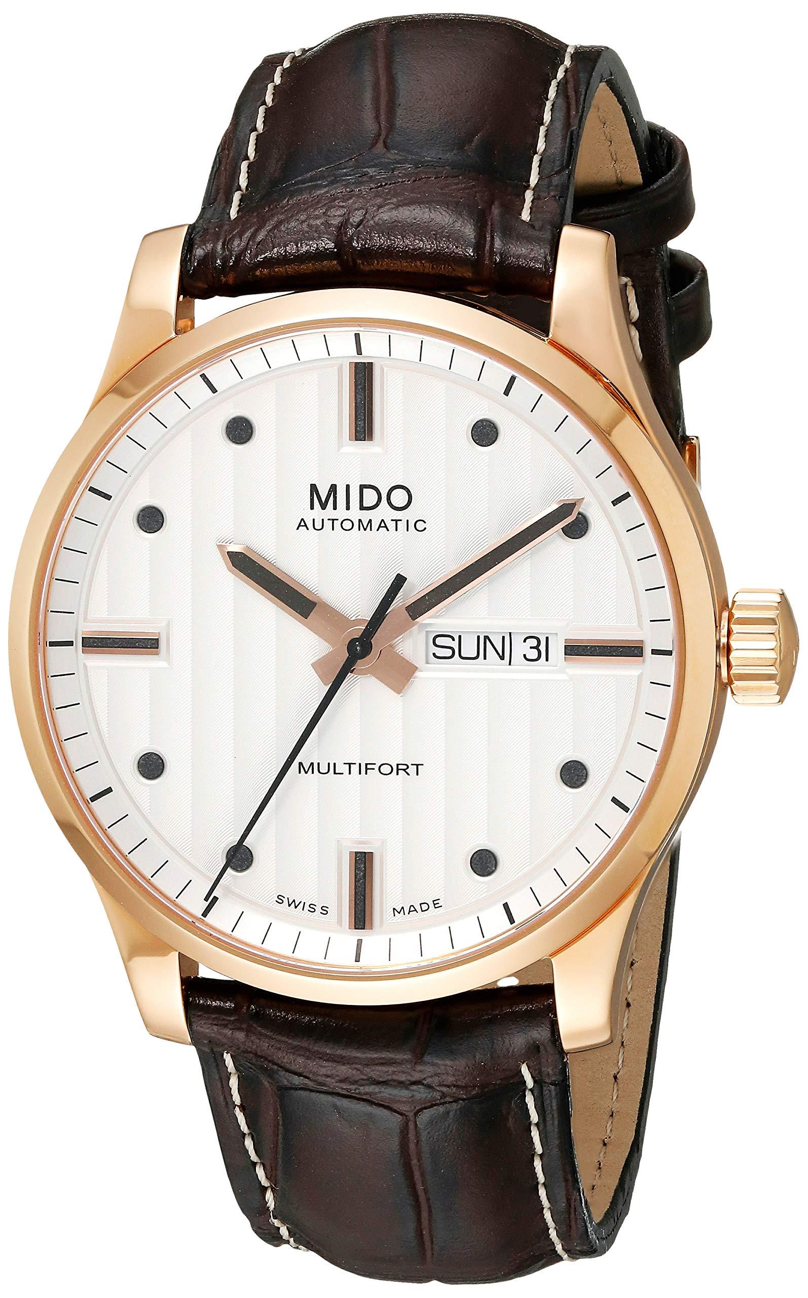 Mido Men's MIDO-M0054303603100 Multifort Analog Display Swiss Automatic Brown Watch
