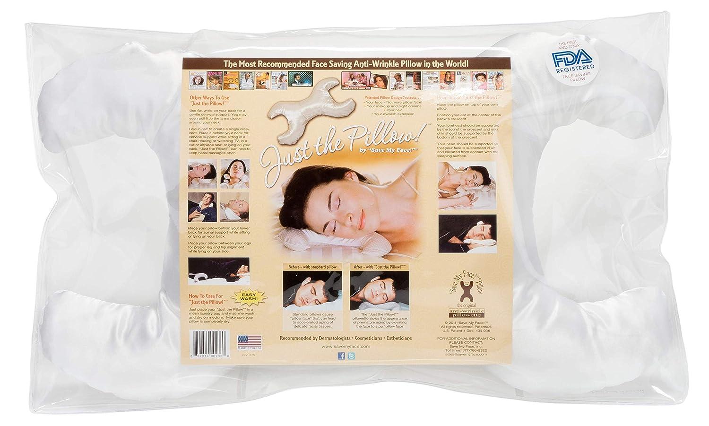 La Petite Save My Face Pillowette Made in USA White