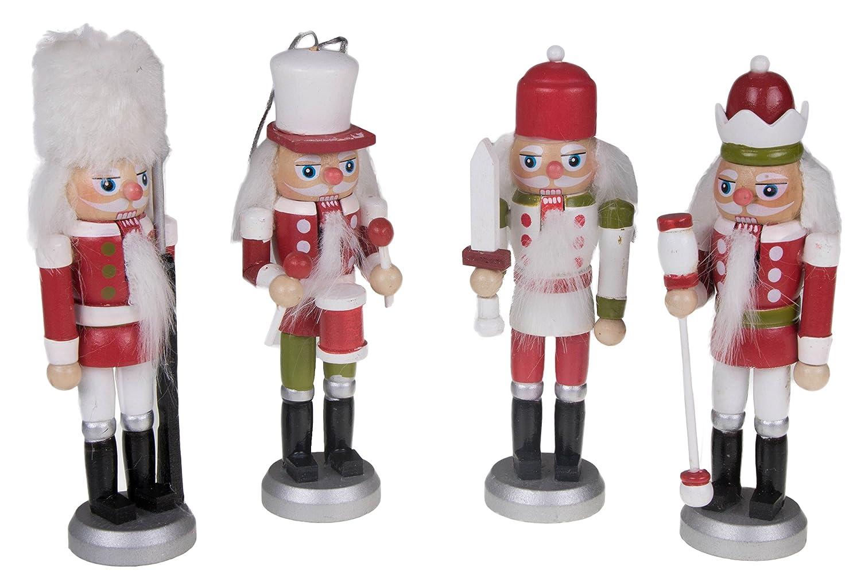Amazon.com: Nutcracker King Christmas Ornament Set by Clever ...