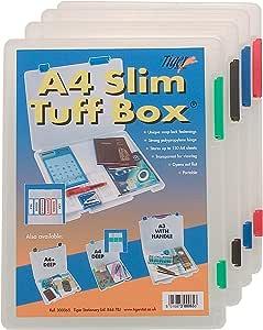 Tiger 300065 - Caja de almacenaje (A4): Amazon.es: Oficina y papelería