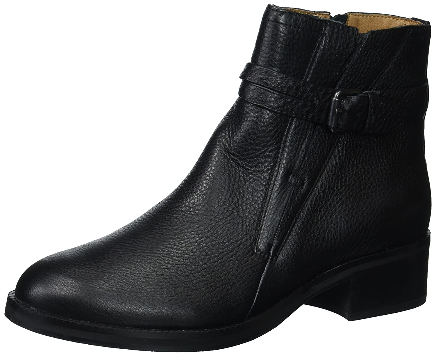 Gentle Souls Women's Percy Bootie with Buckle Detail Ankle Boot B06XXMRYDZ 9.5 B(M) US|Black
