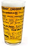 Pint Beer Glass-How To Order A Beer in 26 Languages- Transparent