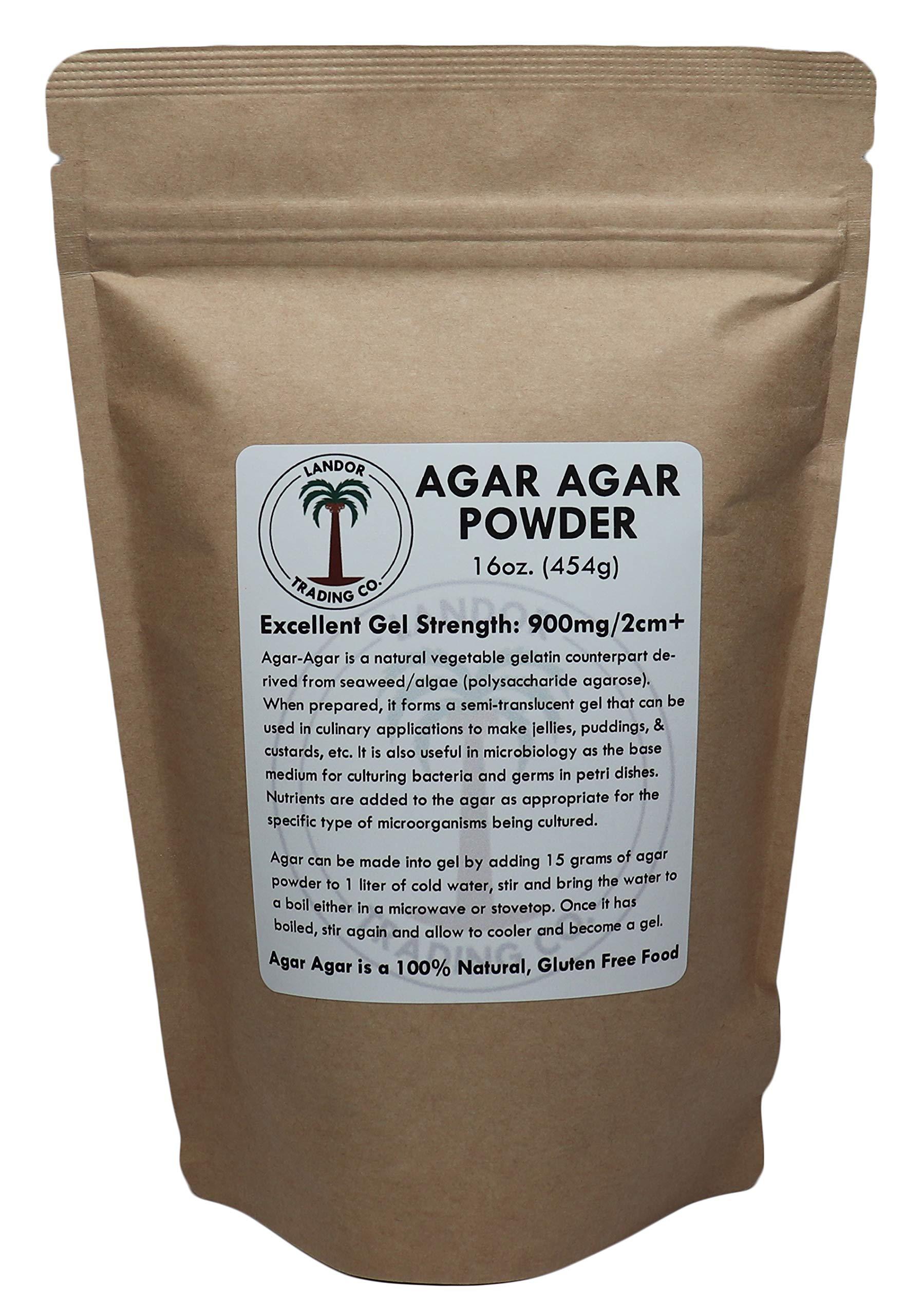 Agar Agar Powder 1 Pound - Excellent Gel Strength