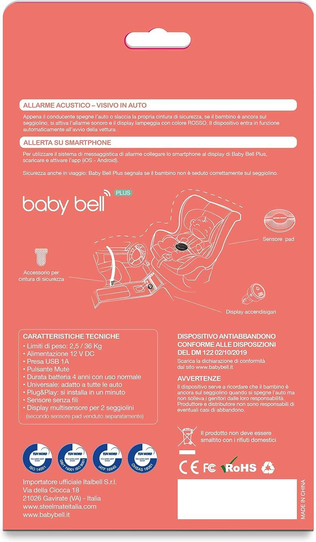 Dispositivo anti abbandono Steelmate Baby Bell Plus | espandibile