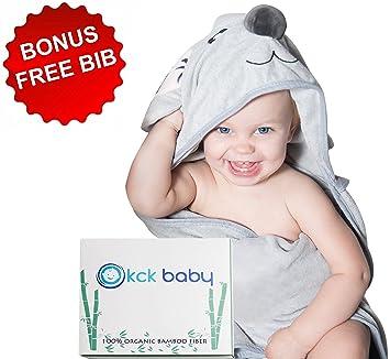 d8791e8e9aad Amazon.com   Bamboo Hooded Towel for Kids Babies   Toddlers + Bib ...