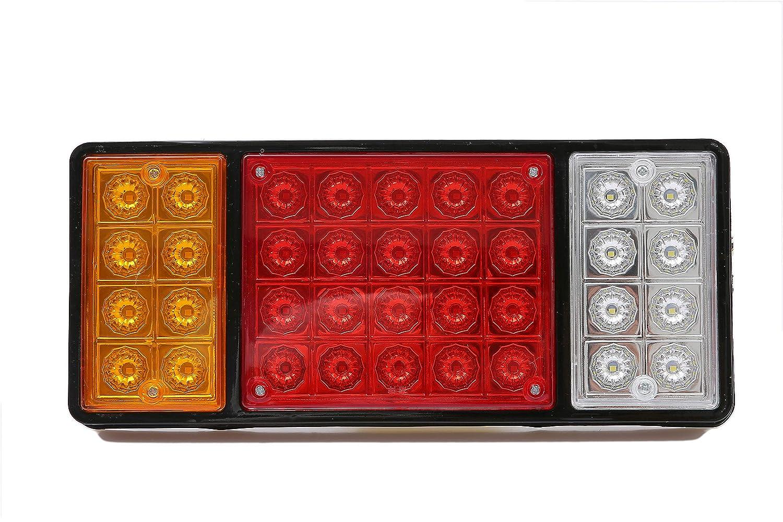 Runsabay 2 piezas de alta calidad 24V 36 LED Luz de se/ñal de giro Luz trasera Trailer Stop Luces traseras rojas Indicador amarillo rojo Caravana Cami/ón Furgoneta de autom/óvil