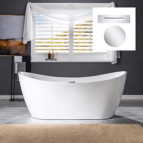 WOODBRIDGE 71″ Freestanding Bathtub Contemporary Soaking Tub